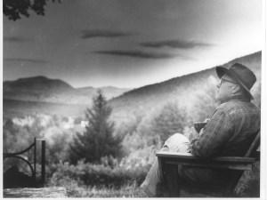 Howard Zahniser at Mataskared, Crane Mtn in background