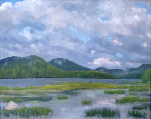 Oil painting of Durant Lake by the author..