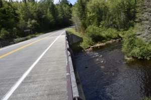 Boreas River and Rt. 28N where DEC proposes a new snowmobile bridge