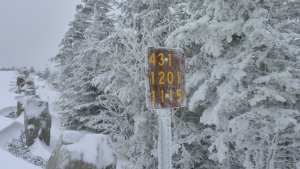 Lake Placid Turn sign