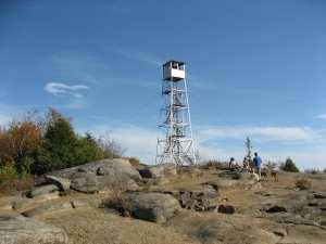 Hadley Mtn firetower in sunnier weather