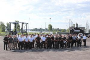 Operation Clear Passage staff on July 23 at Treadwell Bay Marina