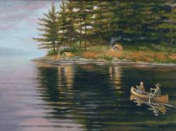 miltons-painting-titled-dinnertime-canoers