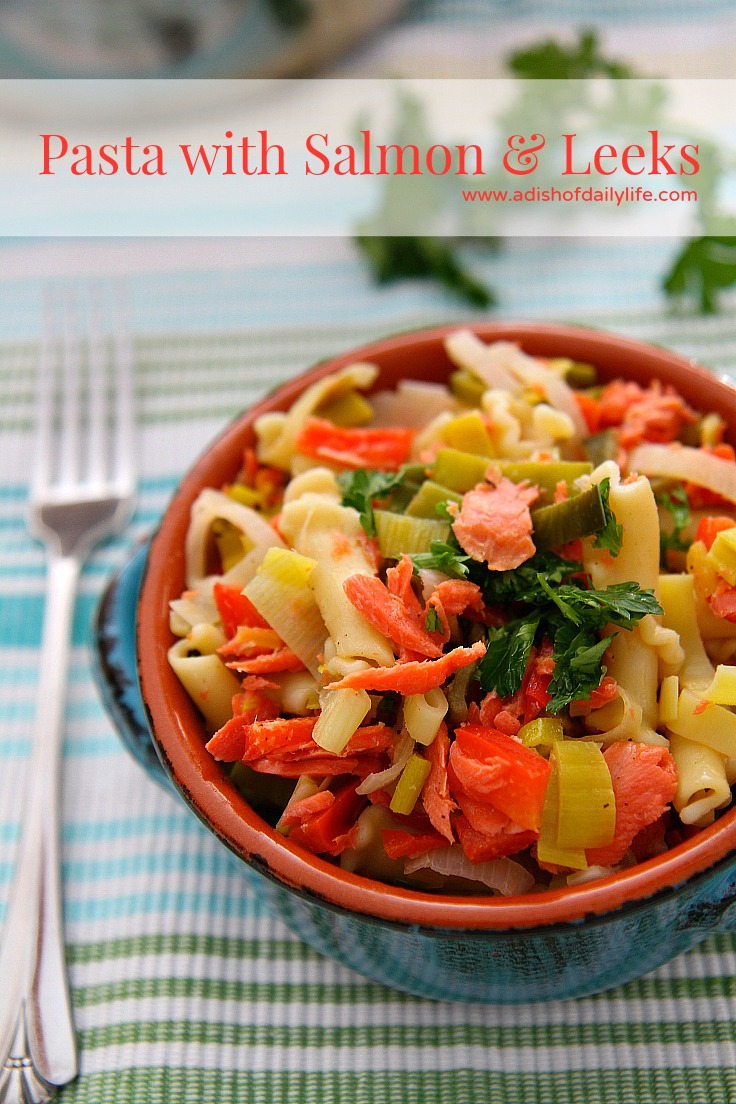 Super yum! Pasta with Salmon and Leeks Recipe