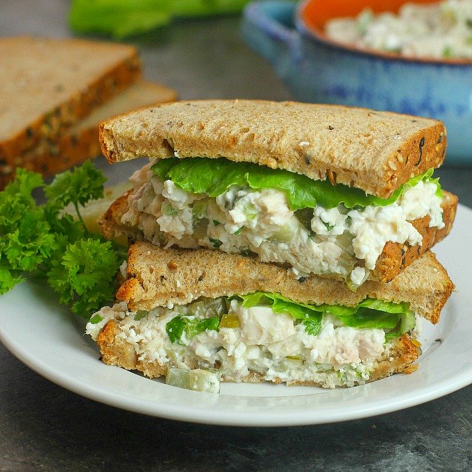 Terrific Healthier Chicken Salad Recipe With Cottage Cheese Download Free Architecture Designs Grimeyleaguecom