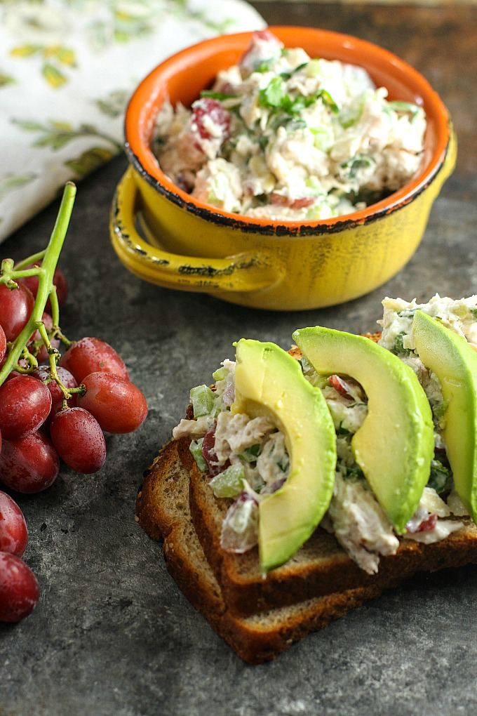 Greek Yogurt Chicken Salad With Grapes A Dish Of Daily Life
