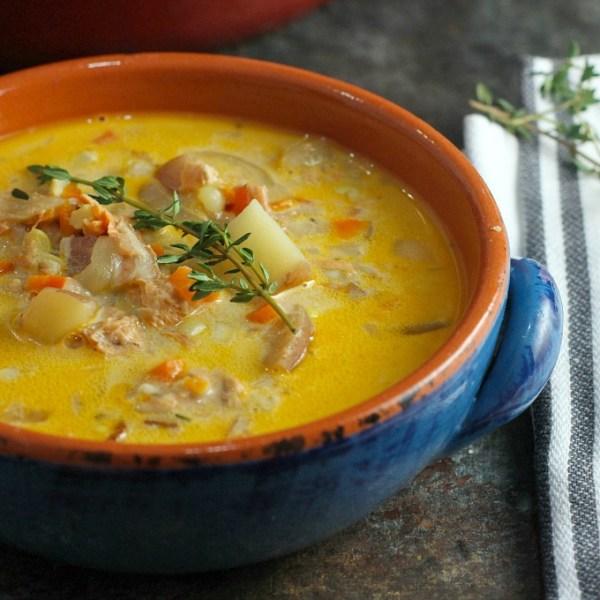 Salmon Corn Chowder A Dish Of Daily Life