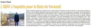 Extrait du site internet de la Gazette du Mantois. Février 2014.
