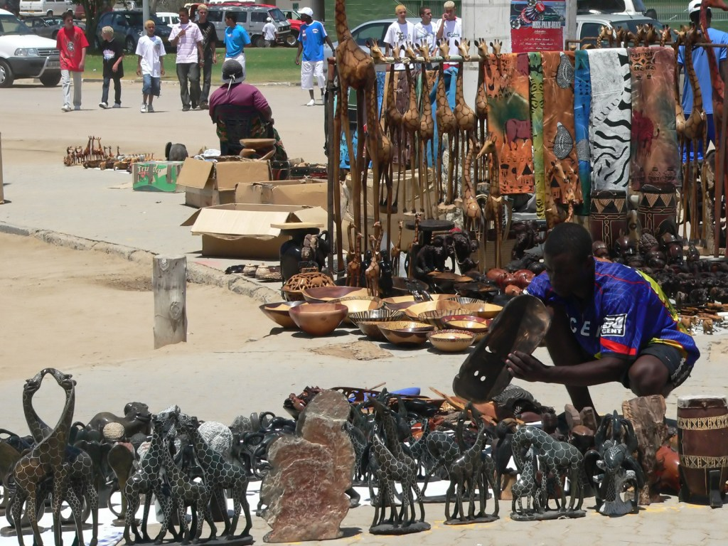 An African market, where economic balances are discovered