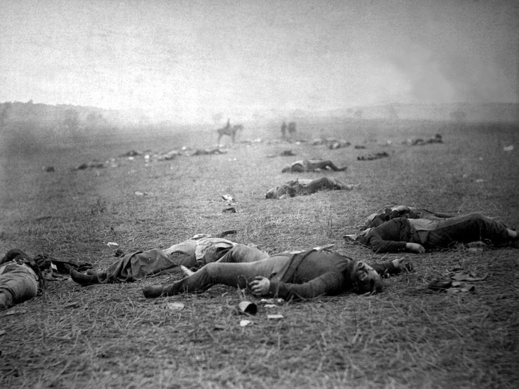 Uniondead on the battlefield at Gettysburg, Pennsylvania.