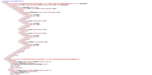 Overzicht van de gebruikersrechten in King, export naar XML formaat