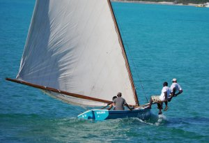 A Bahama C Class Regatta boat