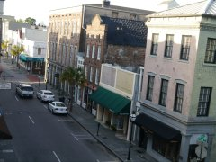 View of King Street from our window