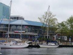 Tai Chi on the dock at Waterside Marina - not too far to walk to Joe's Crab Shack!