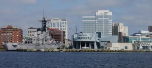 Norfolk – the Nauticus Naval Museum and ship Wisconsin which is open to the public