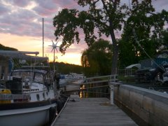 Evening on the dock at Riverview Marina
