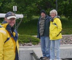 Steve, Bill and Martha - ready to go back up through Lock 8