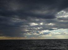Brief rain storm on long haul