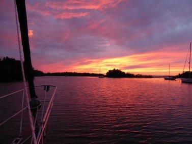 Sunset, Heywood Island