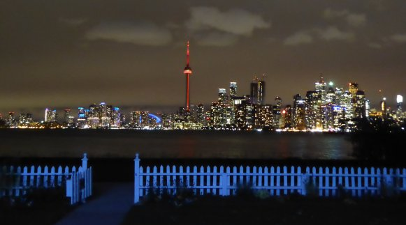 View of Toronto from Algonquin Island. Night...