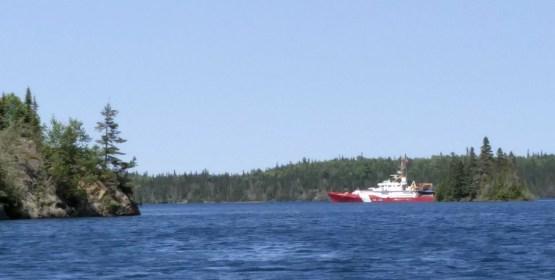 Coastguard boat in McGreevy