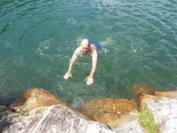 A chilly swim