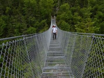 The White River suspension bridge