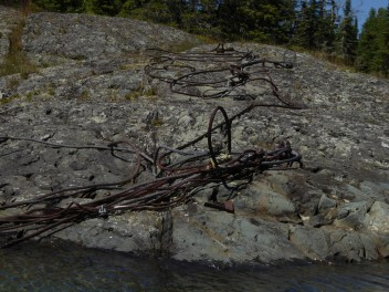 and cables on rocks in most harbours