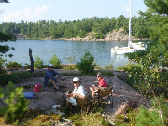 Sundowners on the little island