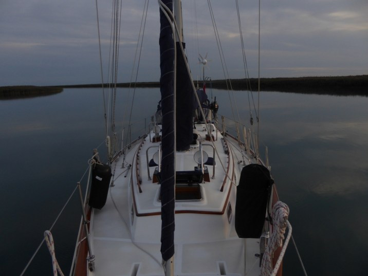 Anchored in Bassett channel off the St. Clair River