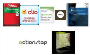 PCLaw, ActionStep, Quicken, QuickBooks, Xero, Clio