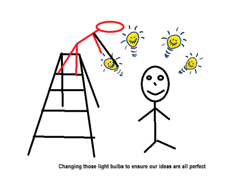 CChanging our idea light bulbs