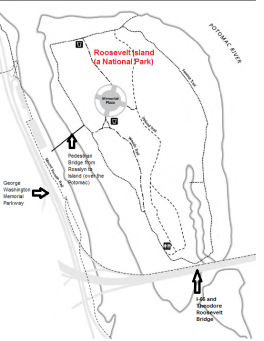 Map of Roosevelt Island (DC)