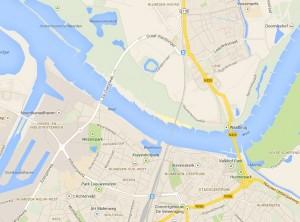 De Oversteek op de Kaart van Google Maps