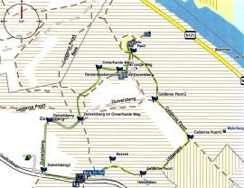 Rondje Duivelsberg: volg de groen gekleurde route langs de blauwe vlaggen