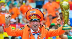 Winfried Witjes, alias de Oranje Generaal in vol ornaat
