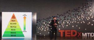 Afvalpiramide met preventie aan de basis Bron: Still van TEDxMITID