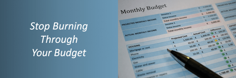 Budget Planning Graphic with verbiage