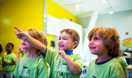 Summer Campers get excited by camp experiments.