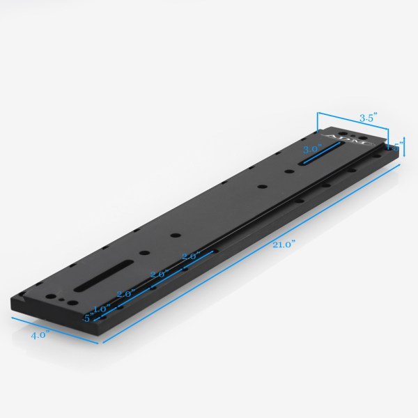 ADM Accessories | D Series | Universal Dovetail Bar | DUP21AP | DUP21AP- D Series Universal Dovetail Bar. 21″ Long, 3.5″ Spacing | Image 2