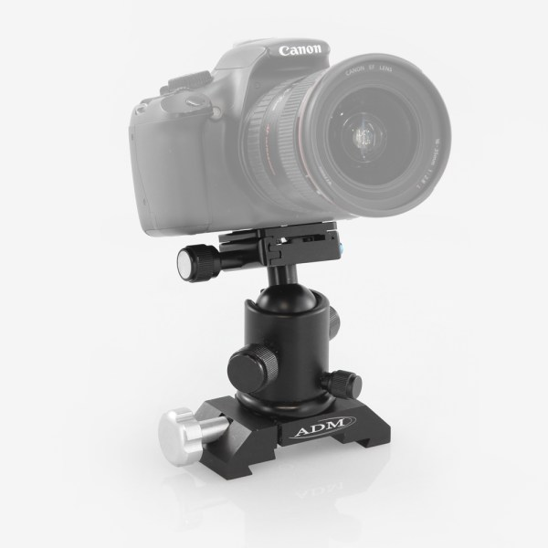ADM Accessories | DV Series | Dovetail Camera Mount | DVBCM | DVBCM- D or V Series Bogen Camera Mount - Installed | Image 2