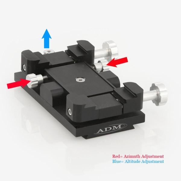ADM Accessories | Miscellaneous | ALT/AZ Aiming Devices | MAX-M | Mini-MAX ALT/AZ Aiming Device. Male Dovetail Version | Image 3