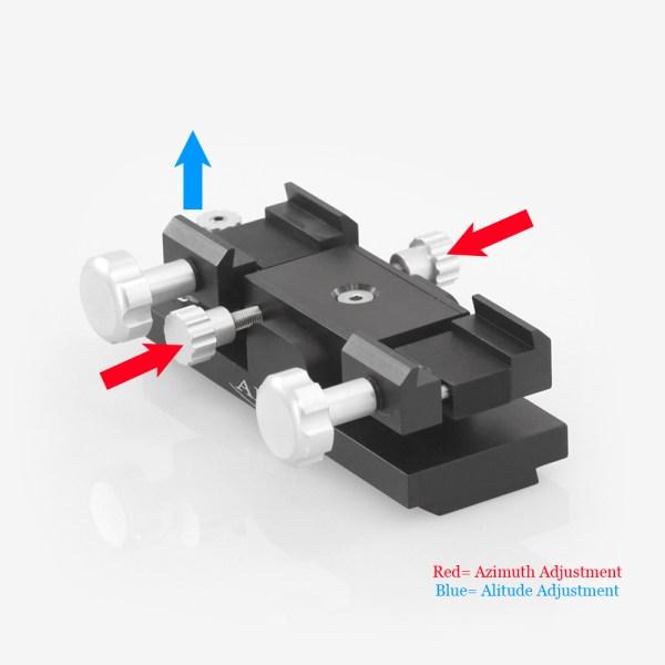 ADM Accessories | Miscellaneous | ALT/AZ Aiming Devices | MINIMAX-M | Mini-MAX ALT/AZ Aiming Device. Male Dovetail Version | Image 2