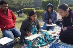 group-outdoor-sketching