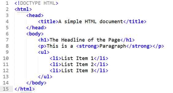html document
