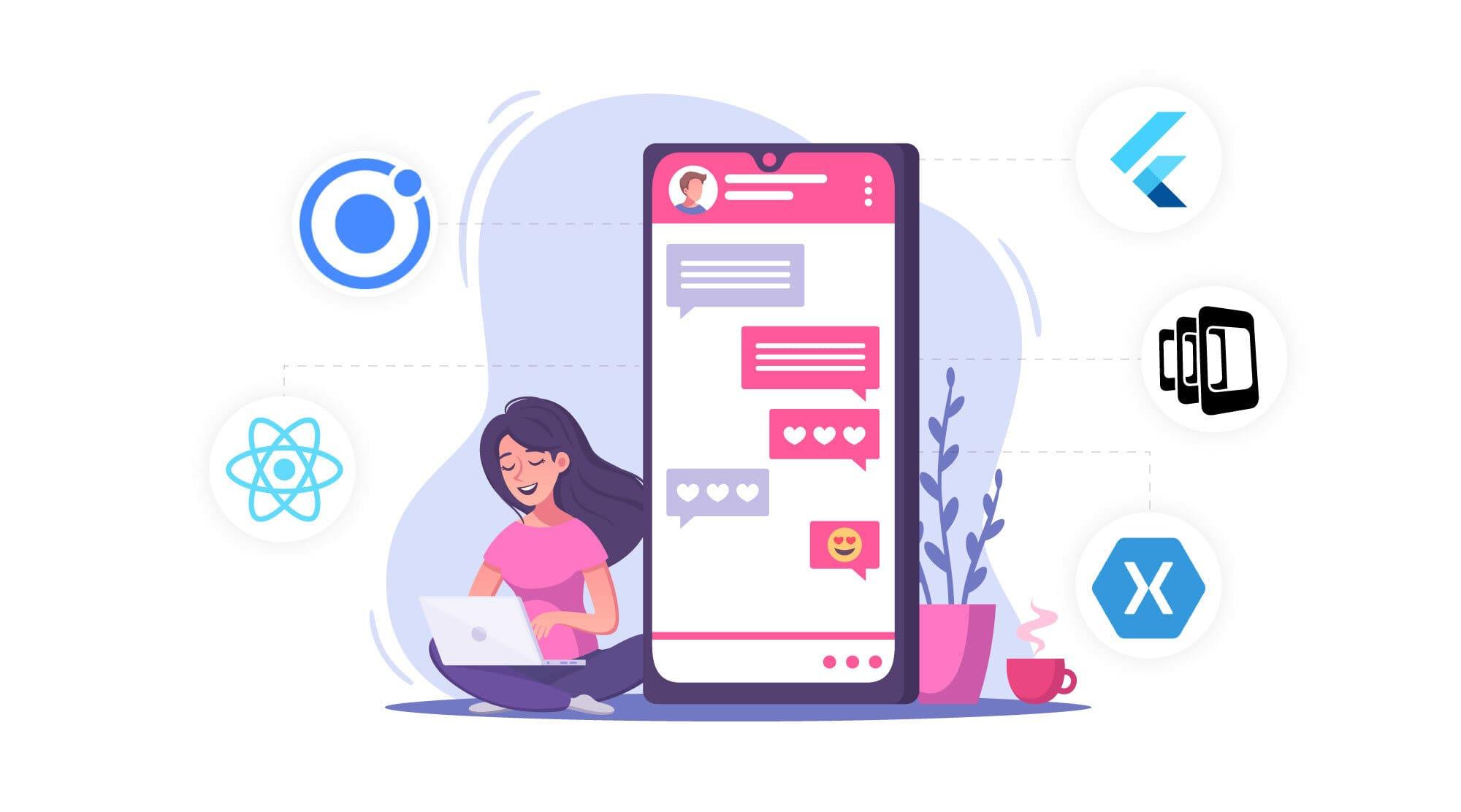 Popular mobile application development frameworks
