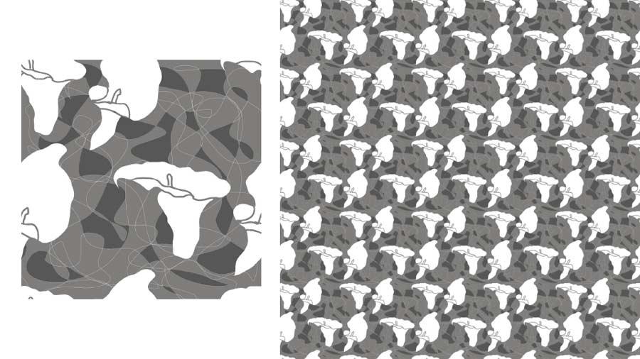 Digital Motifs Design in CAD Textile Design Portfolio