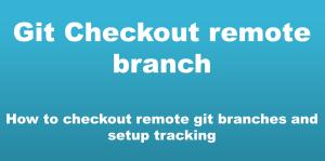git checkout remote branch