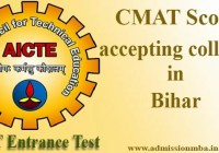 CMAT Score accepting colleges in Bihar