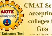 CMAT Score accepting colleges in Goa